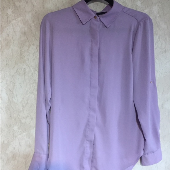 90d145d1ae6a38 Mossimo Supply Co. Tops | Lilac Lavender Long Sleeve Blouse | Poshmark